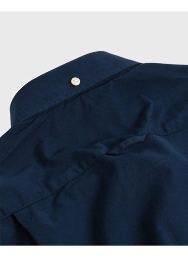 Gant Erkek Slim Fit Broadcloth Gömlek Lacivert
